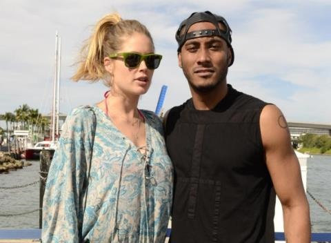 News video: Doutzen Kroes And Sunnery James Welcome Daughter Myllena Mae