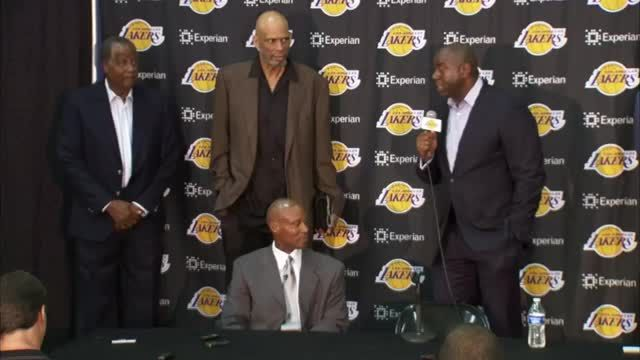 News video: Magic Johnson: Lakers 'chose the right guy'